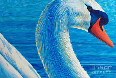 Water Fowl Painting - Lead Me Into Love by Brian  Commerford