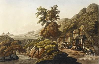 Lead Mine In Wales, 1798 Art Print by British Library