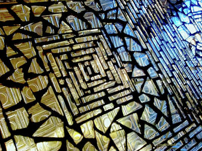 Photograph - Leaded Glass by Donna Blackhall