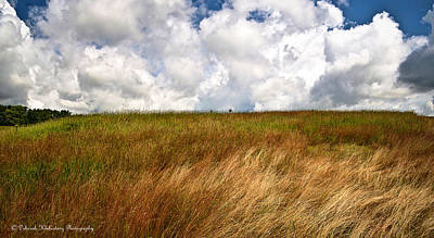 Bounded Area Photograph - Leaden Clouds Over Field by Deborah Klubertanz