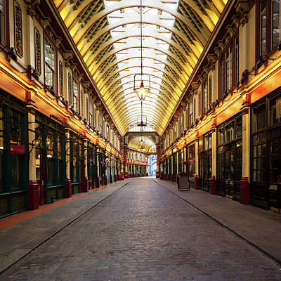 Pub Photograph - Leadenhall Market In London, Uk by Nicolasmccomber