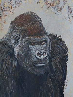 Painting - Leader Of Gorilla Group by Margaret Saheed