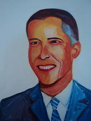 Barrack Obama Painting - Leader Of The Free World by Justin Lee Williams