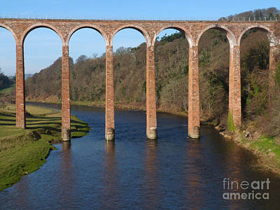 Photograph - Leaderfoot Viaduct - River Tweed - Scotland by Phil Banks