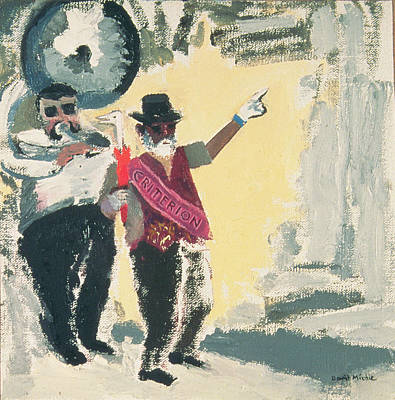 Tuba Wall Art - Photograph - Leading The Criterion Jazz Band With Big Al Oil On Canvas On Board by David Alan Redpath Michie