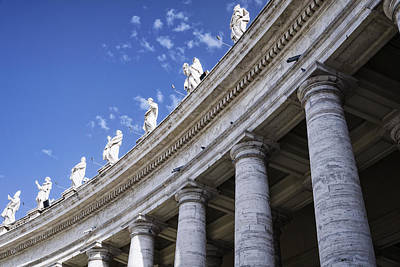 Piazza San Pietro Photograph - Leading Upwards by Joan Carroll