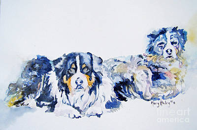 Leadville Street Dogs Art Print by Mary Haley-Rocks