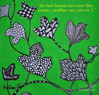 Painting - Leaf Diversity by Kathleen Pio