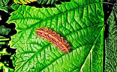 Digital Art - Leaf Eater by Ron Bissett