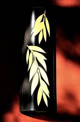 Photograph - Leaf Lamp by Bob Wall