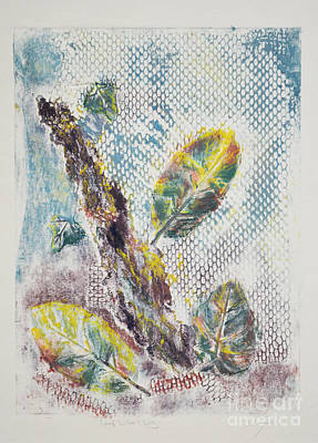 Printmaking Mixed Media - Leaf Litter And Log by J L Carothers