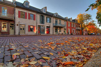 Photograph - Leaf Litter On Main Street by Steve Stuller