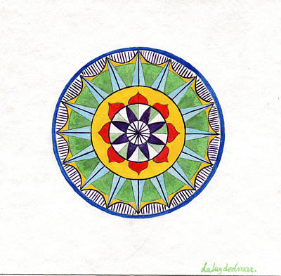 Leaf Mandala Art Print by Silvia Justo Fernandez
