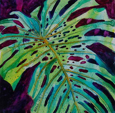 Painting - Leaf by Terry Holliday