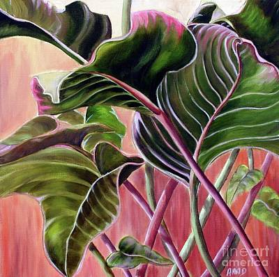 Art Print featuring the painting Leafy by Anna-Maria Dickinson
