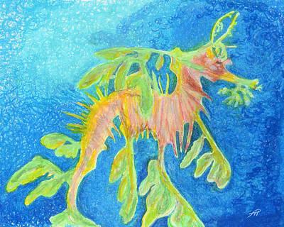 Leafy Seadragon Art Print by Tanya Hamell
