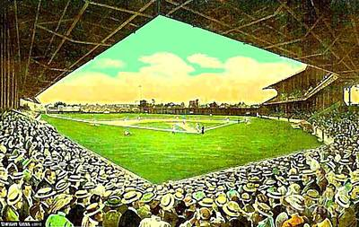 League Park Stadium In Cleveland Oh Around 1915 Art Print
