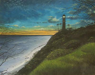 Leahi Lighthouse Art Print by Wallace Kong