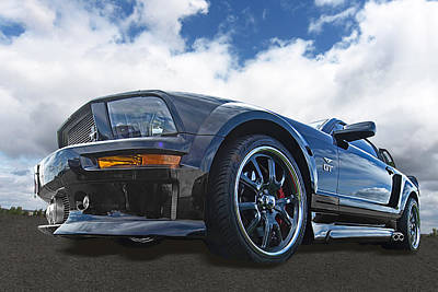 Ford Mustang Racing Photograph - Lean And Mean - The Dominator by Gill Billington