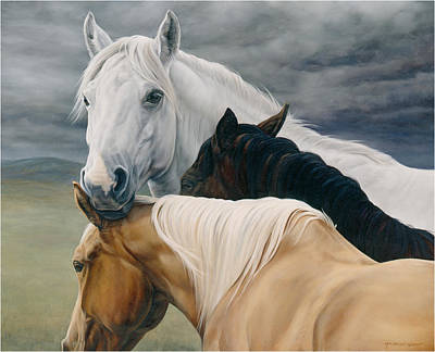 Horse Art Painting - Lean On Me by JQ Licensing