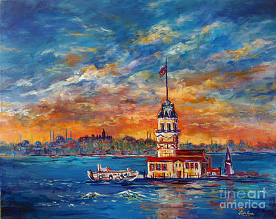 Painting - Leanders Tower  Istanbul by Lou Ann Bagnall