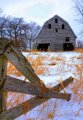 Photograph - Leaning Barn by Coby Cooper