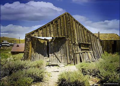 Photograph - Leaning Barn Of Bodie California by LeeAnn McLaneGoetz McLaneGoetzStudioLLCcom