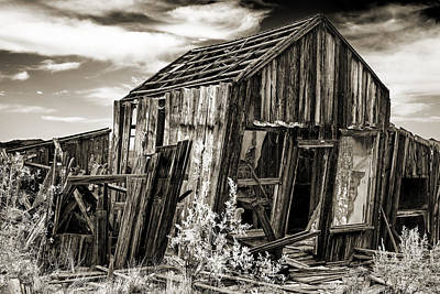Haunted Shack Photograph - Leaning Cabin In Randsberg by Kim M Smith