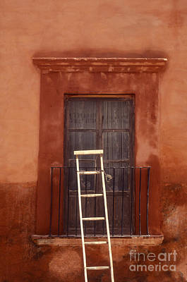 Photograph - Leaning Ladder San Miguel De Allende Mexico by John  Mitchell