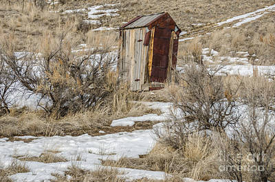 Leaning Outhouse Art Print by Sue Smith