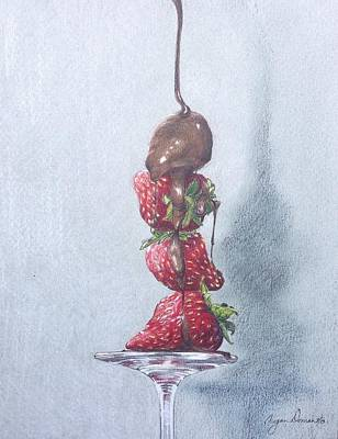 Leaning Tower Of Berries Art Print