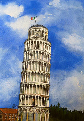 Painting - Leaning Tower Of Pisa by Michal Madison