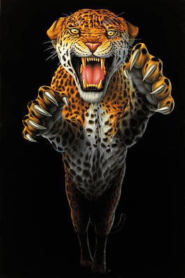 Leaping Leopard Original by Steve Bridger
