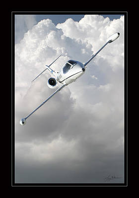 Learjet Art Print by Larry McManus