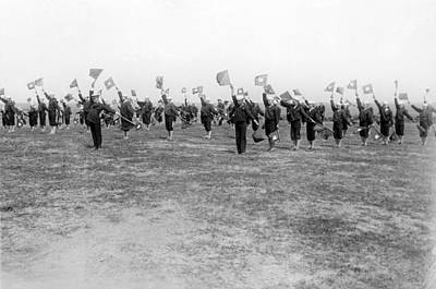1916 Photograph - Learning Semaphore Signalling by Underwood Archives