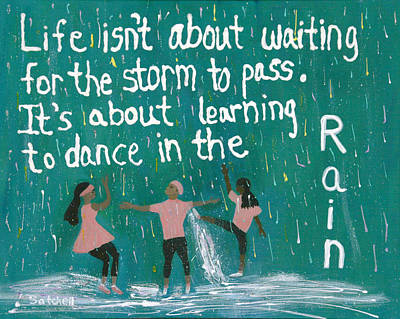Overcoming Painting - Learning To Dance In The Rain by Maura Satchell