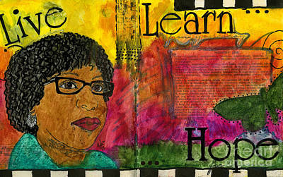 Mixed Media - Learning To Keep Hope Alive by Angela L Walker
