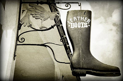 Photograph - Leather Boots by Laurie Perry