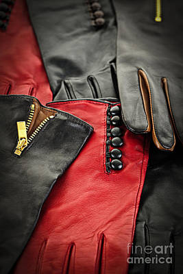 Leather Gloves Print by Elena Elisseeva