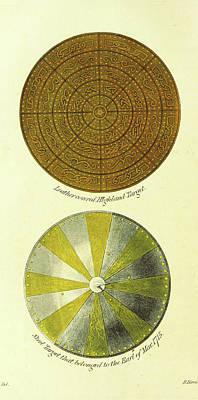 Leather Highland Target, Steel Target, The Scottish Gael Or Art Print