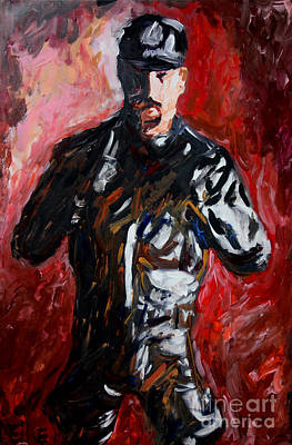 Male Painting - Leather Man - Leder Mann - 2520 by Lars  Deike