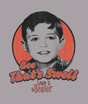 Beaver Digital Art - Leave It To Beaver - Swell by Brand A