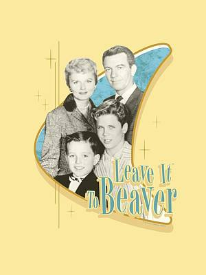 Beaver Digital Art - Leave It To Beaver - Wholesome Family by Brand A