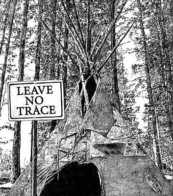 Leave No Trace Art Print