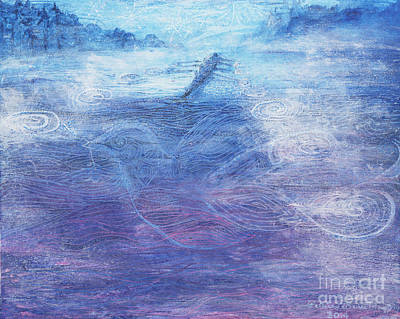 Wall Art - Painting - Leave Only Peace In Your Wake by Patrice Murphy