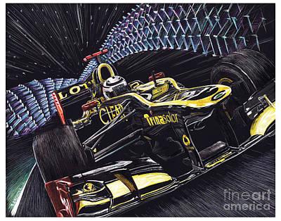 Formula One Drawing - Leavemealone by Robin DaSilva