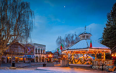 Leavenworth Christmas Moon Art Print by Inge Johnsson