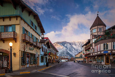 Leavenworth Winter Street Art Print by Inge Johnsson