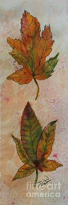 Mixed Media - Leaves #1 by Dian Paura-Chellis