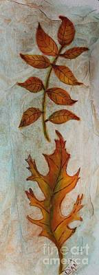 Painting - Leaves #2 by Dian Paura-Chellis